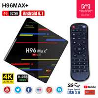H96 MAX Plus Android 8,1 TV Box RK3328 Quad Core 4 GB + 32 GB USB 3,0 Smart TV Box 2,4 GHz WiFi 3D 4 K H.265 Set Top Box reproductor multimedia