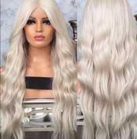 Precio de fábrica 1 pc de moda de las mujeres dama de plata chica frente de encaje de pelo rizado de la onda encaje sintético interior neto pelucas soporte Mar14