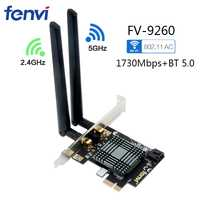 Adaptador inalámbrico de escritorio PCI Express WiFi Dual Band 5,0 Mbps Bluetooth 1730 MU-MIMO Windows 10 con tarjeta de red Intel 9260