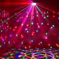 LED iluminación de escenario DMX512 Color RGB con control remoto controlador bola de cristal magia discoteca de luz láser DJ envío rápido TW