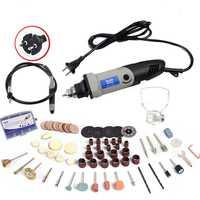 Envío libre 94 piezas Mini taladro eléctrico 400 W Dremel Rotary herramientas de velocidad Variable amoladora herramienta con grabado herramienta