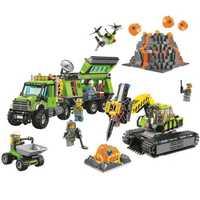 Bela 10641 ciudad volcán exploración Base bloques construcción juguete 60124 Legoings ciudad figuras modelo ladrillos juguetes regalo