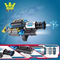 Eléctrico telescópica explosión agua balas Gatling Cannon armas de juguete arma al aire libre CS juego de Paintball de la máquina para los niños regalos