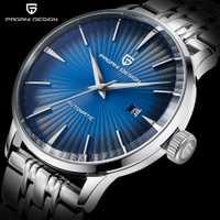 PAGANI diseño casuales de la moda de los hombres relojes mecánicos resistente al agua 30 M de acero inoxidable de la marca de lujo de automática negocio reloj saat