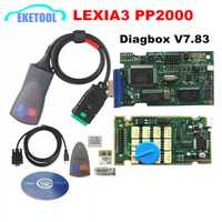 Profesional Lite Lexia3 PP2000 Diagbox V7.83 PSA XS evolución para Citroen/Peugeot LEXIA-3 FW 921815C Lexia 3 Normal chip