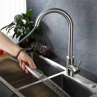 Grifo de cocina de acero inoxidable, accesorios de baño, lavabo, grifo de agua, cocina, espray, agua fría y caliente torneira