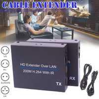 200 m HD Extender sobre LAN H.264 del divisor del transmisor con IR retransmisión JLRJ88