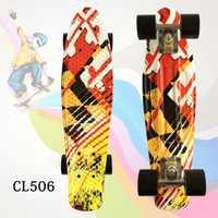 1 unid Street graffiti estilo patrón de impresión monopatín completo 22 pulgadas retro Cruiser Longboard adulto patín