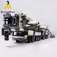 Construcción de grúa móvil de nueva potencia LTM11200 RC liebherrrr Kits de Motor técnico bloques de ladrillos cumpleaños niños regalo C104