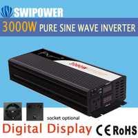 Inversor de onda sinusoidal pura 3000 W nuevo DC 12 V 24 V 48 V a 110 V 220 V Coche inversor de energía solar