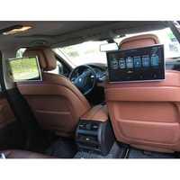 11,6 pulgadas 2 piezas coche android monitor de reposacabezas con bluetooth aux fm Transmisor bluetooth soporte HDMI Aux out/ USB de la tarjeta SD