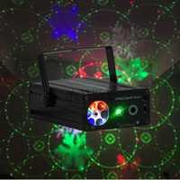 Alta calidad mini aleación de aluminio 2in1 LED láser discoteca etapa luz partido patrón Iluminación proyector de láser