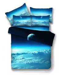 Dreamlike Galaxy espacio exterior 3D juego de cama impreso colchas cama edredón cubre adultos dormitorio decoración doble tamaño completo reina