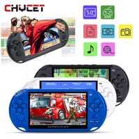 De los jugadores 5,0 pulgadas Pantalla de consola de juegos portátil MP3 jugador X9 Game Player con cámara TV TF Video