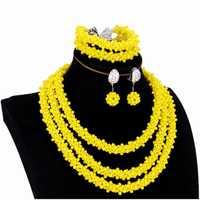 De moda conjunto de joyas de oro de Dubai amarillo pendientes collar conjunto de joyería nupcial de la boda Conjunto para las mujeres envío gratis 2018 indio