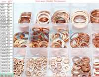 24 tamaño junta plana de cobre sellado Spacer Set