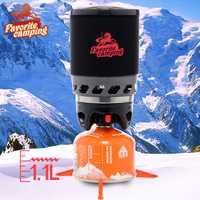 Skazka nuestra puerta Camping Gas estufa 1100 ml fuego Sistema de cocina y quemador de Gas portátil de alta potencia horno Camping estufa Pack-02