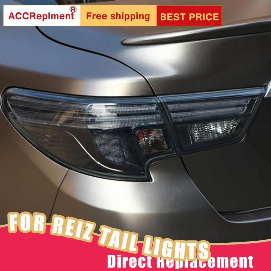 WHS US $381.80 Car Styling LED Tail Lamp for Toyota Mark X Tail Lights 2014-2018 for Reiz Rear Light DRL+Turn Signal+Brake+Reverse LED lights