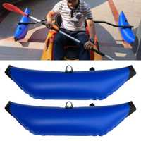 2 uds Canoa Kayak inflable Outrigger remo/barco de pesca SUP estabilizador de pie Kit equipo de engranaje remo de pie duradero