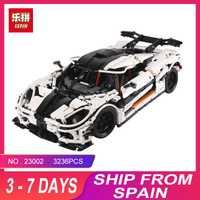 Educativos 23002, 05132 de 05039 técnica serie de bloques de construcción ladrillos Supercar coche de carreras Compatible con MOC-4789 75192, 10240