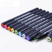 Diseño pintado a mano rotulador 3203 # doble punta Cepillos punta fina tinta de alcohol graso rotulador 60 color profesional pigmento marcador