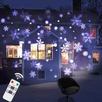 Thrisdar actualización copos nevadas al aire libre lámparas jardín Navidad nevadas lámpara del proyector láser paisaje proyector