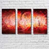 Envío Gratis círculo rojo de pura pintura al óleo pintada a mano de la Sala de Arte de la pared fotos de abstracta moderna pintura no Marcos