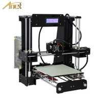 Anet A8 A6 de nivel automático A8 A6 3d impresora alta precisión extrusora Reprap Prusa i3 3D Kit de impresora DIY impresora 3d con PLA filamento de la