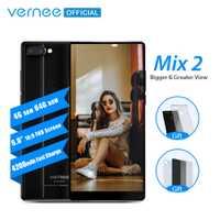Vernee Mix 2 téléphone portable 4G RAM 64G ROM MTK6757 Octa core 6.0 Pouces 18:9 Affichage 13.0MP Android 7.0 smartphone Double Caméra Arrière