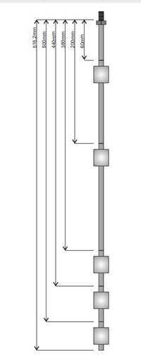 Sensor de interruptor de Control automático de nivel de acero inoxidable flotante de 5 bolas enlace de productos personalizados