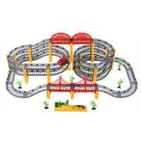 Niños Juguetes Tren Eléctrico pista ranura del modelo juguete coches de carreras órbita doble coche para niño niños cumpleaños y navidad regalo