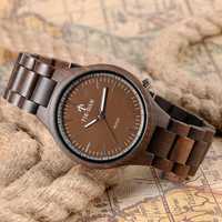 Reloj de pulsera creativo de madera para hombre, cuarzo, Simple, natural, madera, mujer, bambú, correa ajustable, regalo de Navidad de cumpleaños minimalista