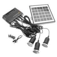 Sistema de lámpara de iluminación Led de energía Solar para exteriores Kit de sistema de Panel Solar para el hogar 4 W 6 V energía Solar para exteriores panel de lámpara de luz LED