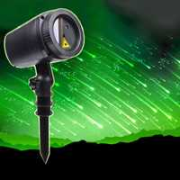 Thrisdar jardín al aire libre proyector de estrellas láser lámpara meteoros lluvia boda fiesta de Navidad Proyector láser etapa Luz