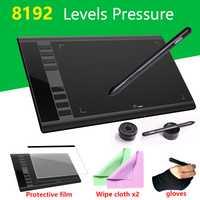 UGEE nuevo vesin M708 10x6 pulgadas tableta Digital 8192 presión de diseño creativo dibujo de la tableta diseñador súper de equipo