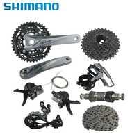 SHIMANO ACERA XT M3000 Grupo 3x9 velocidad Cassette desviador trasero bicicleta MTB bicicleta transmisión Kit 170mm platos y bielas grupo
