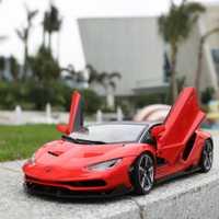 Nueva llegada de los niños 1:18 Lamborghini LP770-4 coche deportivo modelo de coche de juguete Venta caliente simulado aleación coche de juguete para el hogar decoración