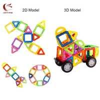 HOTHINK bloques magnéticos de gran tamaño 69 piezas iluminan la educación DIY bloques magnéticos juguetes de construcción para niños