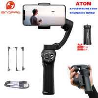 Snoppa Atom 3-Axis plegable de bolsillo de tamaño de mano Gimbal estabilizador para iPhone Smartphone GoPro y carga inalámbrica PK Smooth 4