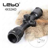 LEBO 4x32 AO vista óptica táctica vidrio grabado retículo compacto alcance del Rifle para la caza Riflescope