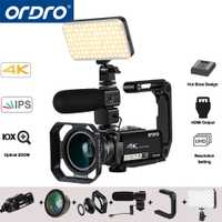Ordro AC7 UHD 4 K Video cámaras digitales cámaras FHD 24MP 120X Digital Zoom 10X óptico WiFi IPS pantalla táctil mini DV videocámaras