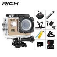 Cámara de Acción rica Ultra HD 130D 2,0 pantalla ir Wifi cámaras subacuáticas Cámara impermeable Pro Mini cámara de acción de natación