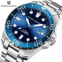 Diseño PAGANI 2018 nuevo negocio de lujo de acero inoxidable reloj de hombre de moda deportivo de alta calidad reloj de cuarzo Masculino relogo Masculino