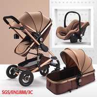 Multifuncional 3 en 1 cochecito de bebé de paisaje cochecito plegable carro bebé cochecito recién nacido