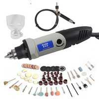 Mini taladro eléctrico de 400 W para Dremel con 6 posiciones de velocidad Variable herramientas giratorias de estilo Dremel Mini herramientas eléctricas de molienda