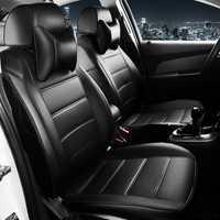 Funda de cuero personalizada para asiento de coche para Volkswagen vw passat b5 polo golf tiguan jetta touran cojín de asiento de estilo de coche