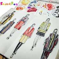 A5 diseñador de moda Notebook marcador libro línea cuerpo libros cuaderno de diseñador 82 hojas de papel vestido