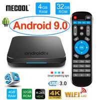 MECOOL KM9 Android 9,0 Smart TV Box Amlogic S905X2 DDR4 4 GB RAM 32 GB ROM USB3.0 4 K HDR 2,4 Ghz/5 GHz Wifi BT4.1 IPTV Set top box