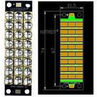 El más nuevo 6565 w-240watts de alta potencia LED UV lámpara violeta epiledes Chip 395-400nm COB bombillas LED diodo módulo púrpura tinta 3D impresora