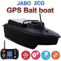 Motor automático actualizado GPS Sonar buscador de peces cebo barco JABO 2CG 20A GPS Auto Retorno pesca cebo barco con hélice de metal guardia
